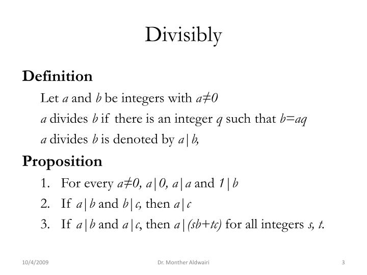 Divisibly