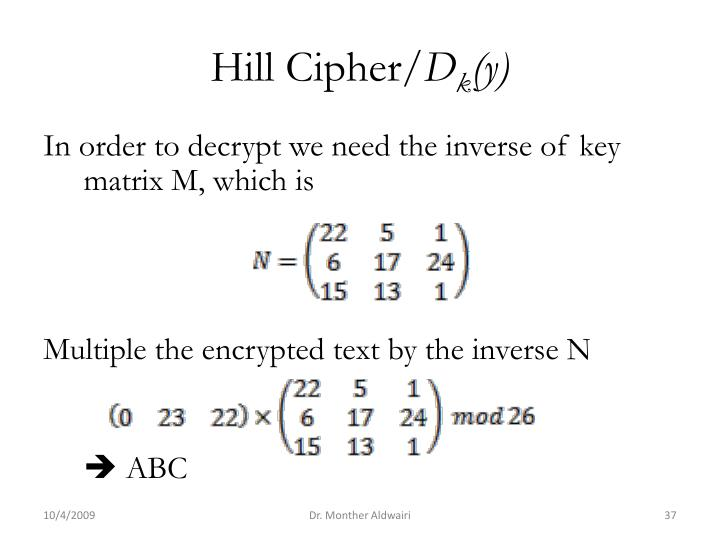 Hill Cipher/