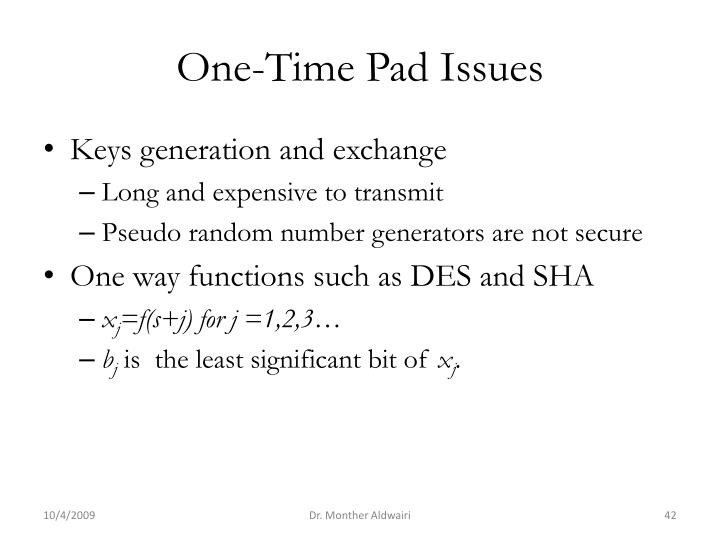 One-Time Pad Issues