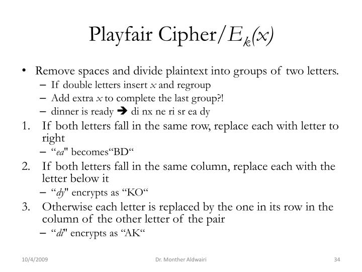 Playfair Cipher/