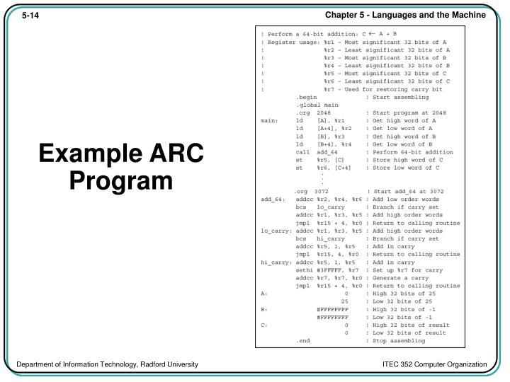 Example ARC Program