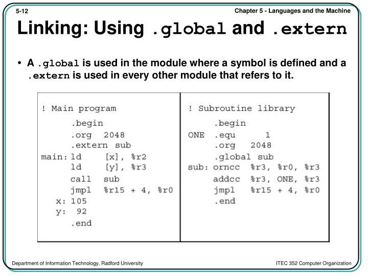 Linking: Using