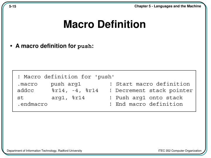 Macro Definition