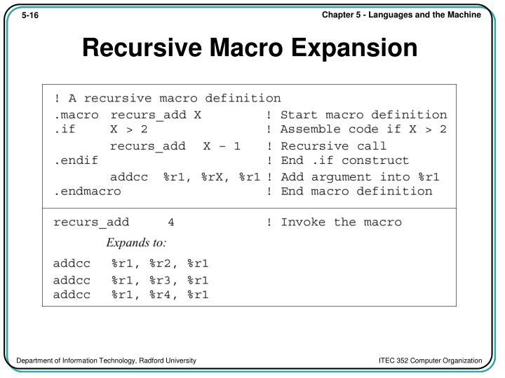 Recursive Macro Expansion