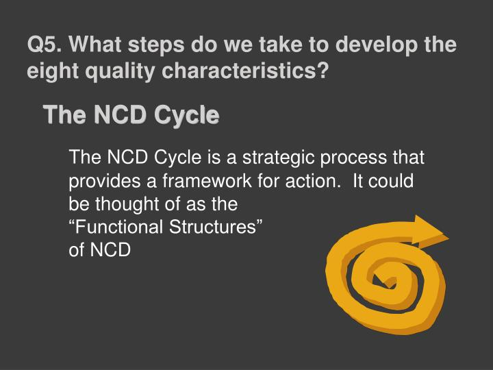 Q5. What steps do we take to develop the eight quality characteristics?