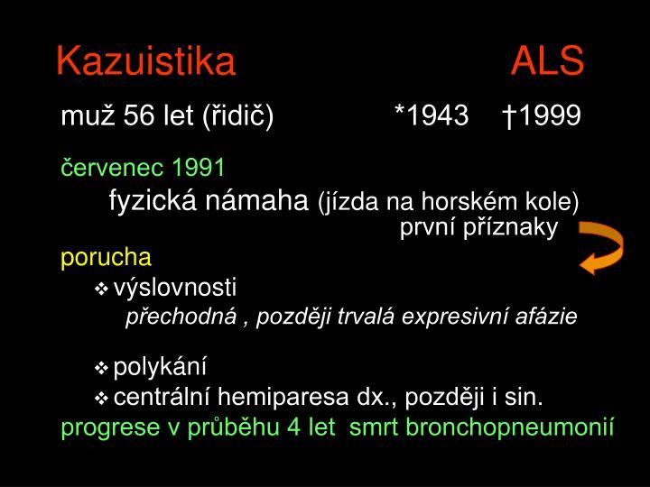 Kazuistika   ALS