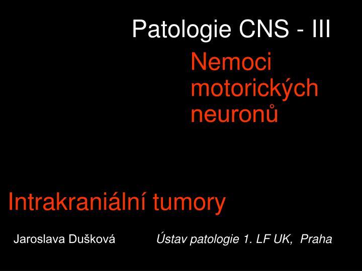 Patologie CNS - III