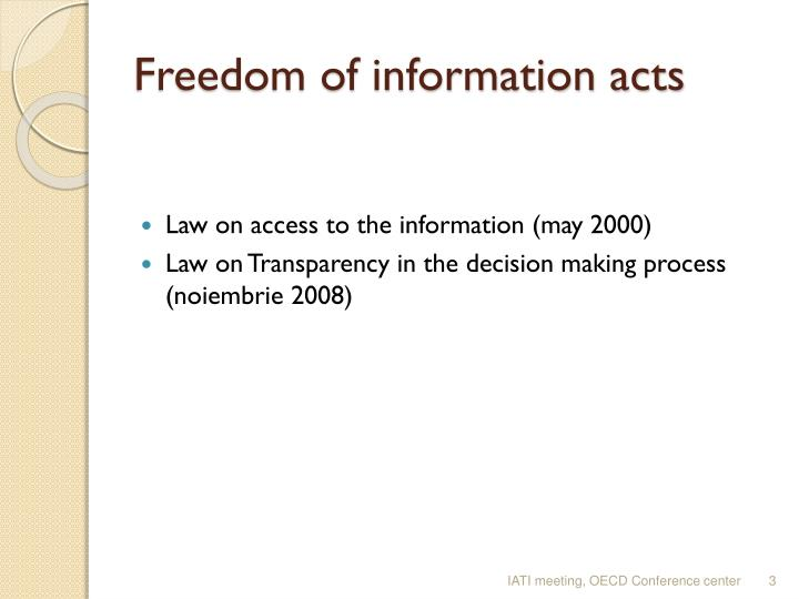 Freedom of information acts