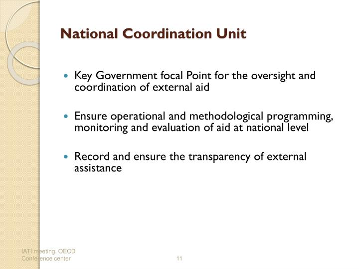 National Coordination Unit