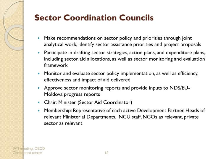 Sector Coordination Councils