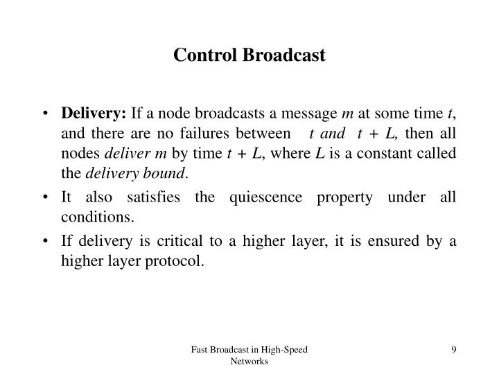 Control Broadcast