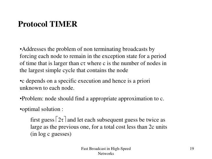 Protocol TIMER