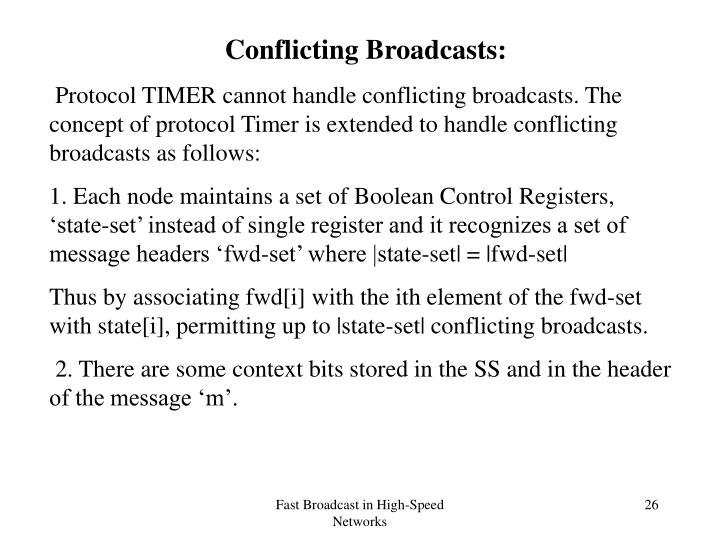 Conflicting Broadcasts: