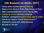 un summit on ncds 2011