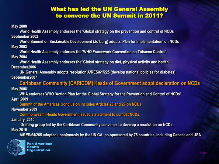 What has led the UN General Assembly