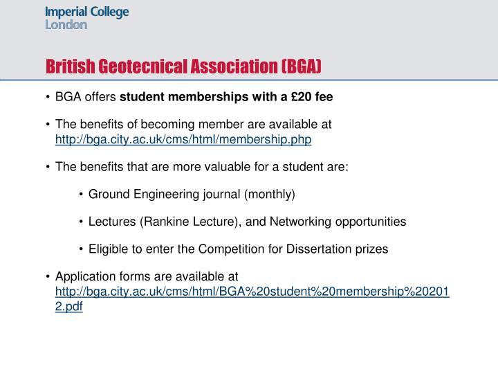 British Geotecnical Association (BGA)