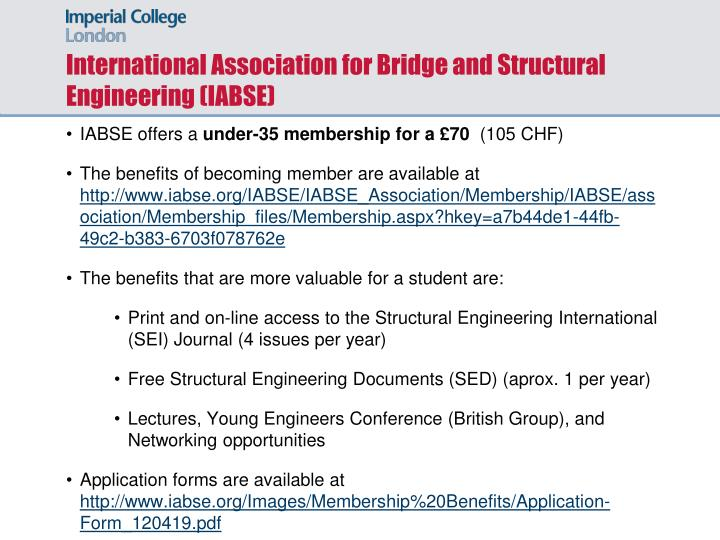 International Association for Bridge and Structural Engineering (IABSE)
