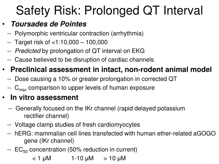 Safety Risk: Prolonged QT Interval