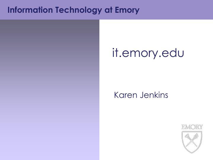 It emory edu