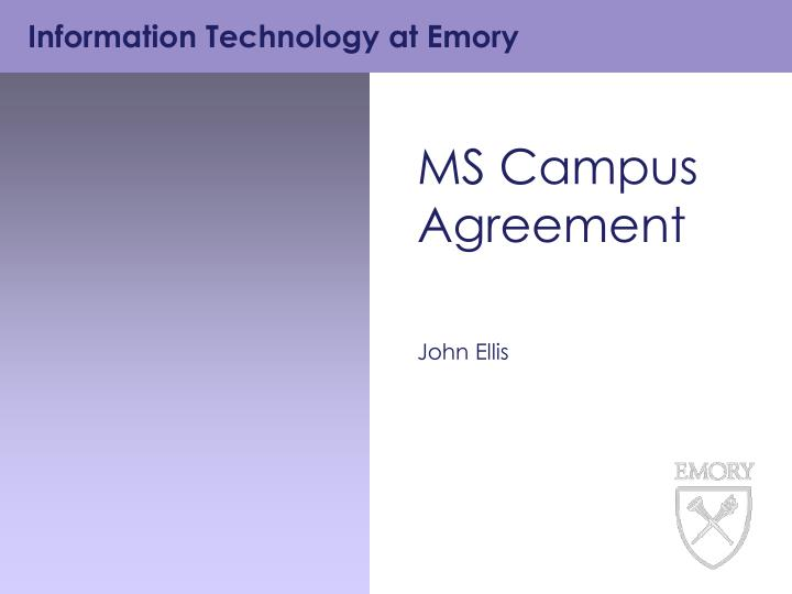 MS Campus Agreement