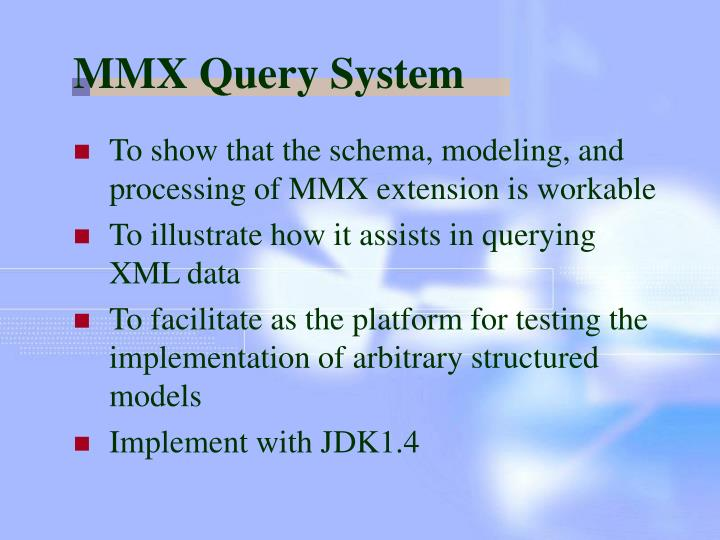 MMX Query System