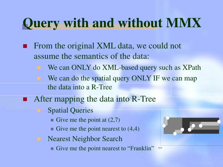 Query with and without MMX