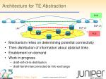 architecture for te abstraction
