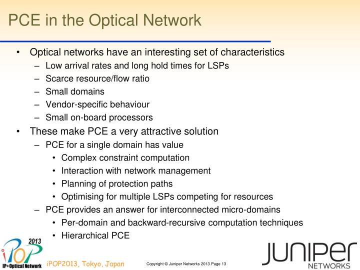PCE in the Optical Network