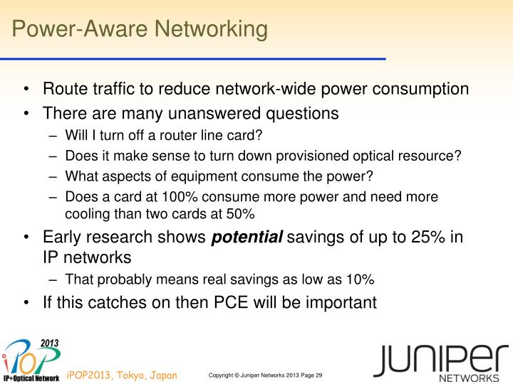 Power-Aware Networking