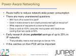 power aware networking