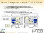 service management an old itu t sdn view