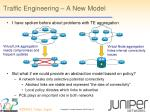 traffic engineering a new model
