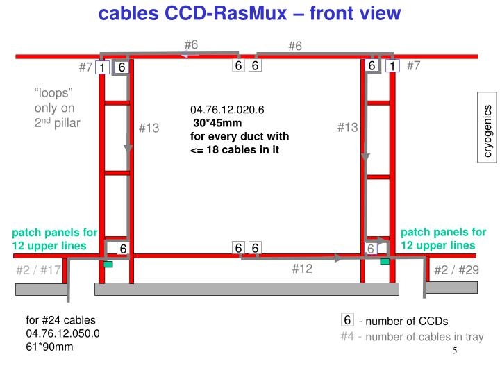 cables CCD-RasMux – front view