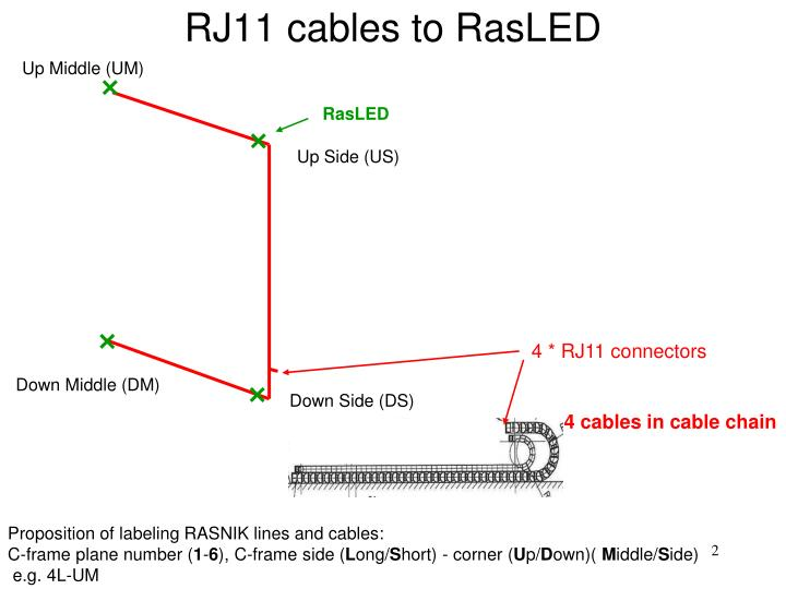 RJ11 cables to RasLED