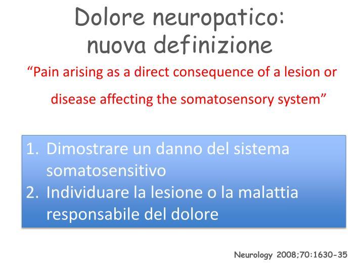 Dolore neuropatico: