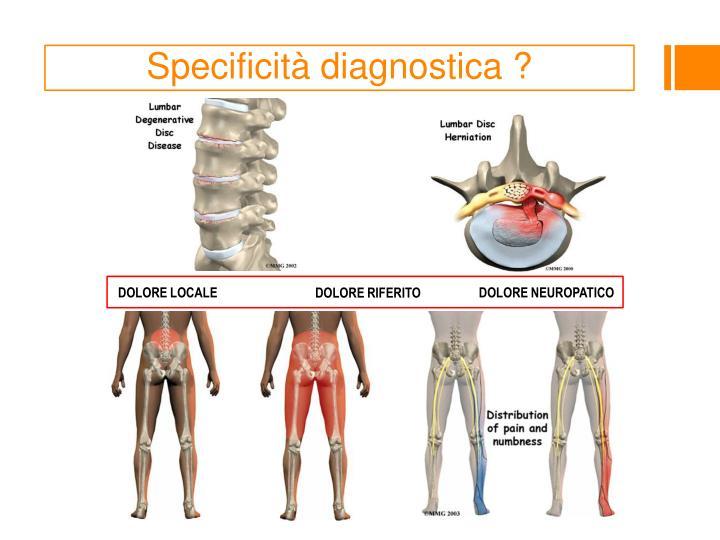 Specificità diagnostica ?