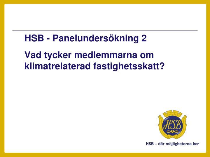 HSB - Panelundersökning 2