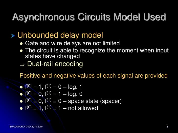 Asynchronous Circuits Model Used