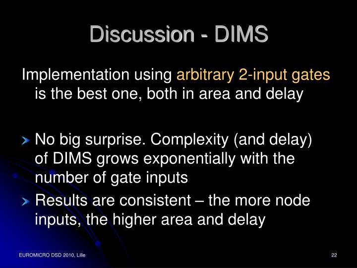 Discussion - DIMS