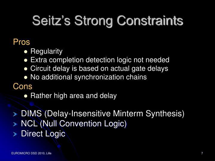 Seitz's Strong Constraints