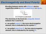 electronegativity and bond polarity1