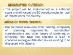 geographic outreach