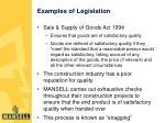 examples of legislation6