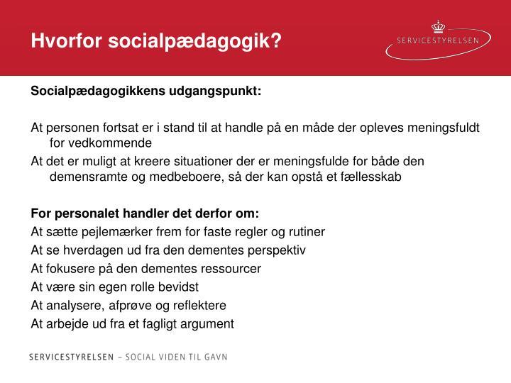 Hvorfor socialpædagogik?