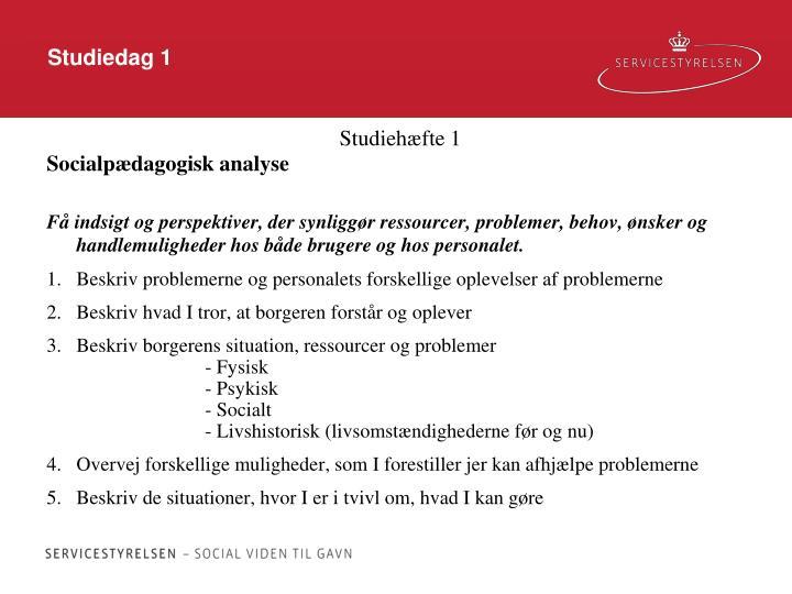Studiedag 1