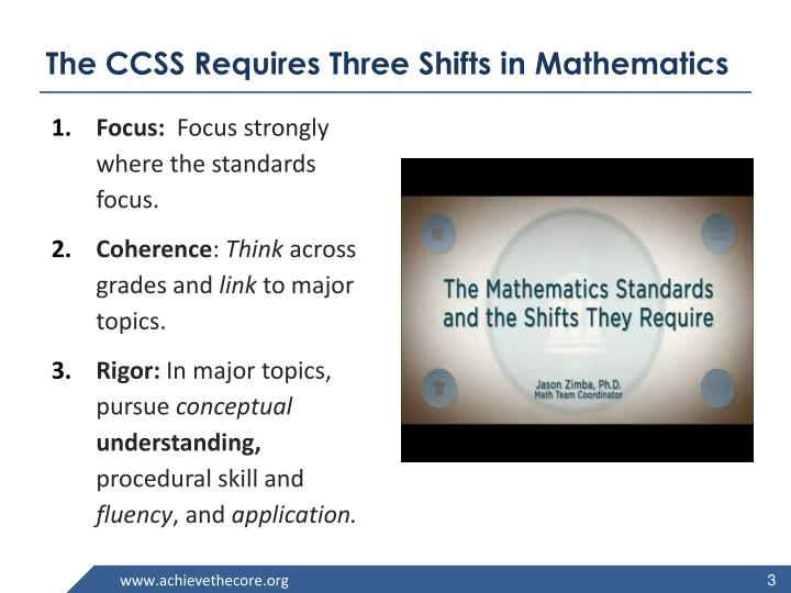 The CCSS Requires Three Shifts in