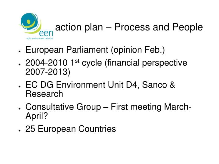 EU action plan – Process and People