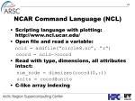 ncar command language ncl
