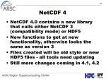 netcdf 4