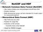 netcdf and hdf